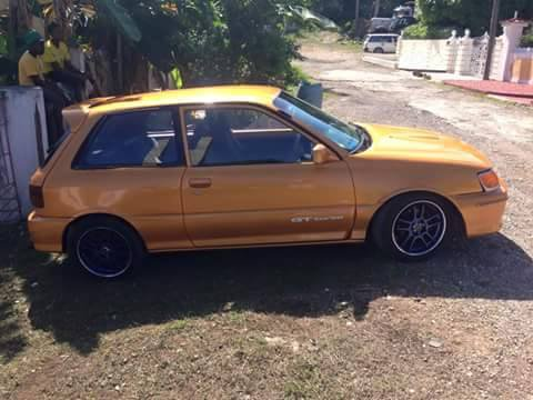 1990 toyota starlet for sale in st mary jamaica autoads jamaica. Black Bedroom Furniture Sets. Home Design Ideas